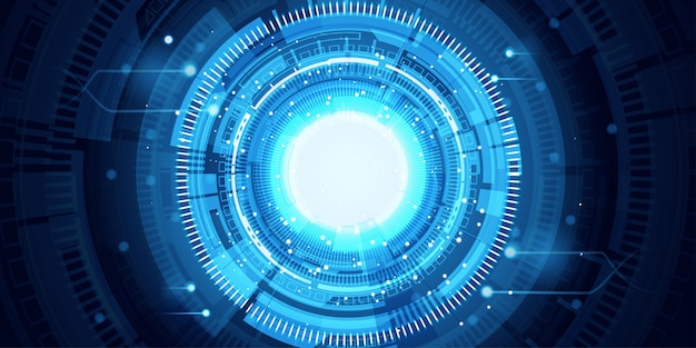 Abstract futuristic blue banner background