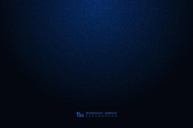 ドット粒子パターンアートワーク装飾的な背景を持つ抽象的な未来的な青いデザイン。
