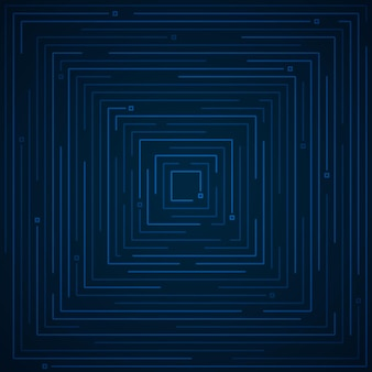 Abstract futuristic blue line of geometric tech artwork template. geometric elements design for copy space of text, header, background.