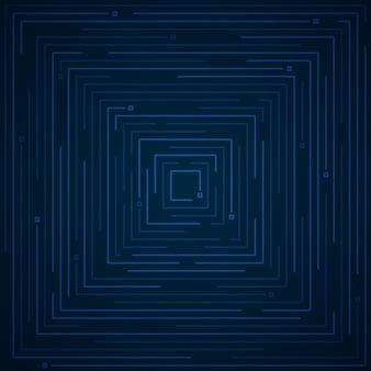 幾何学的な技術アートワークテンプレートの抽象的な未来的な青い線。テキスト、ヘッダー、背景のコピースペースの幾何学的要素のデザイン。