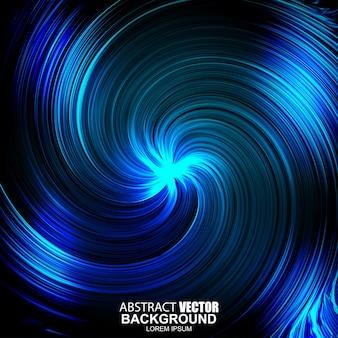 抽象的な未来的な青い波状の背景。トルネード効果。