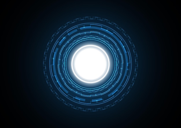 Abstract futuristic circle background