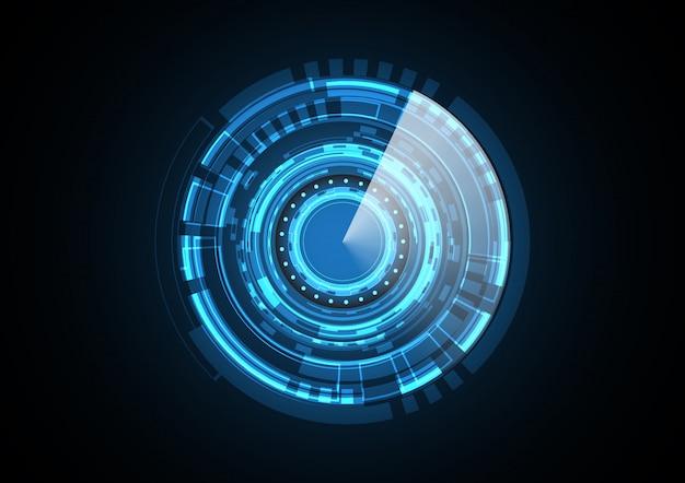 Abstract futuristic circle radar