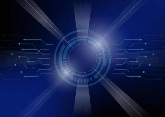 Абстрактный фон технологии футуристического круга