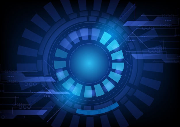 Абстрактный футуристический круг технологии фон
