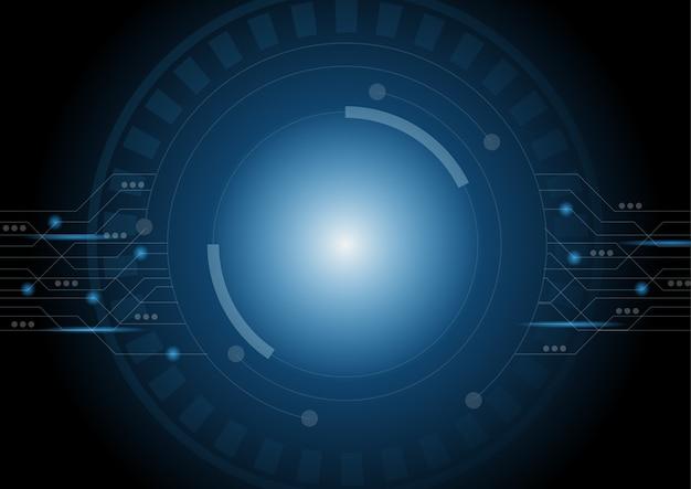 추상 미래 원 기술 공상 과학 배경