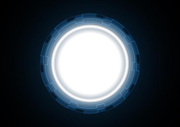 Abstract futuristic circle