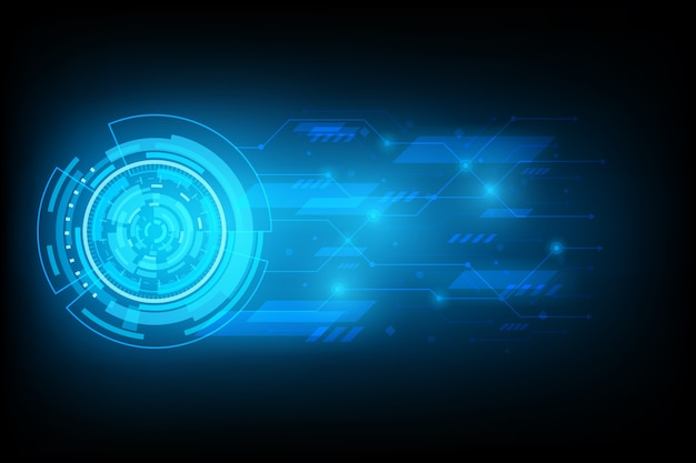 Abstract futuristic circuit technology background