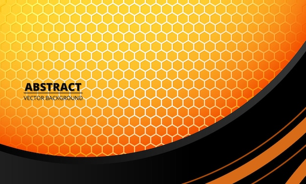 Abstract futuristic concept geometric background with yellow hexagon carbon fiber
