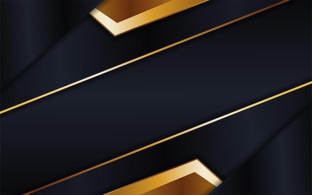 Абстрактный футуристический темный фон в сочетании с золотым элементом