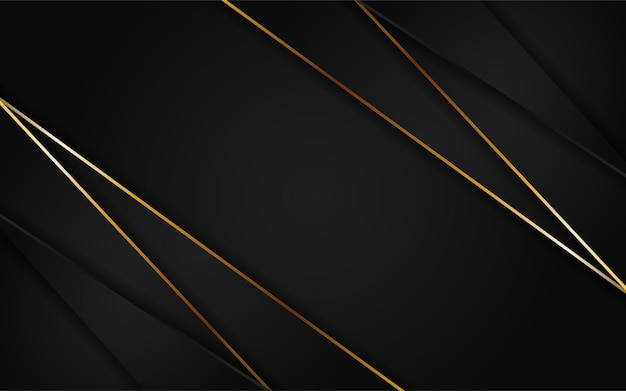 Abstract futuristic dark background combined with golden element
