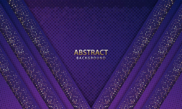 Abstract futuristic dark blue background with glitter. 3d backdrop. realistic vector illustration.
