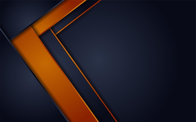 Abstract futuristic dark grey background combined with orange element combination