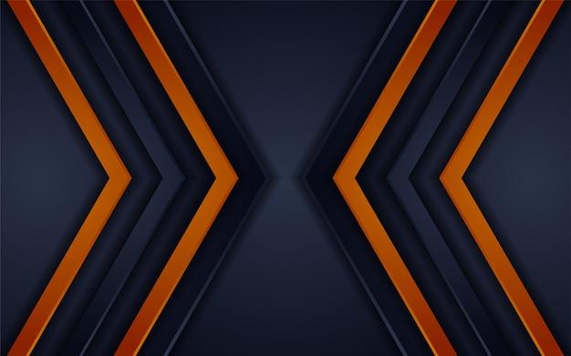 Абстрактный футуристический темно-серый фон в сочетании с оранжевым элементом комбинации