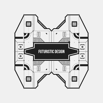 Абстрактные футуристический шаблон элемента дизайна. полезно для научных плакатов и высокотехнологичных средств массовой информации. изолированные на белом фоне.