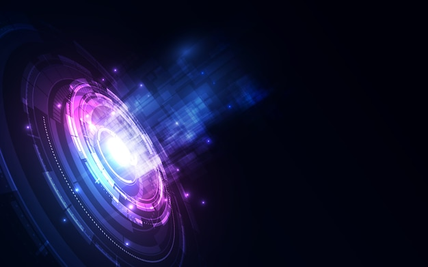 Abstract futuristic digital technology background.