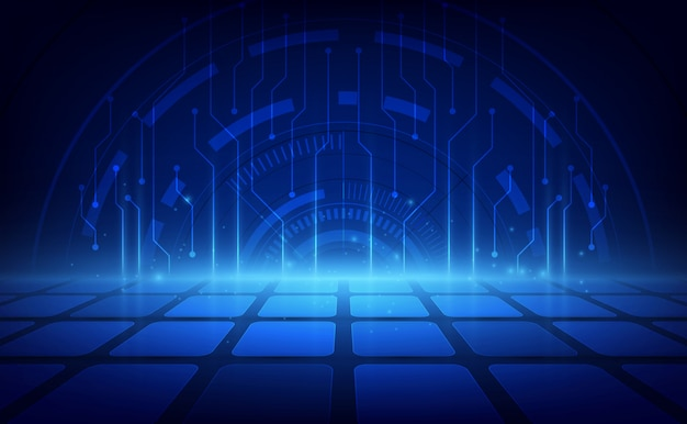 Abstract futuristic digital technology background