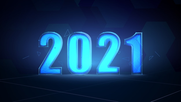 Abstract futuristic digital technology template for 2021.