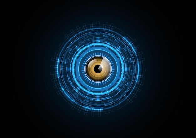 Abstract futuristic eye background Premium Vector