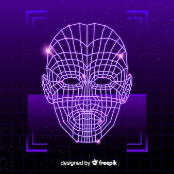 Abstract futuristic face recognition system