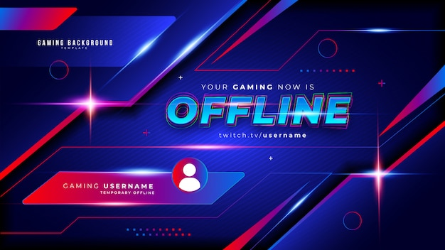 Abstract futuristic gaming background for offline twitch stream