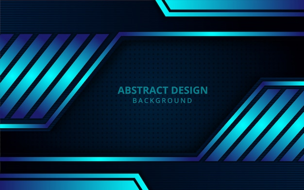 Abstract futuristic geometric blue background