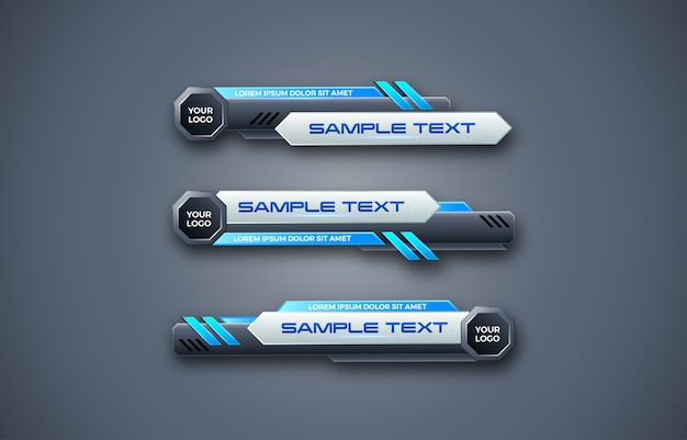 Abstract futuristic geometric lower third banner design