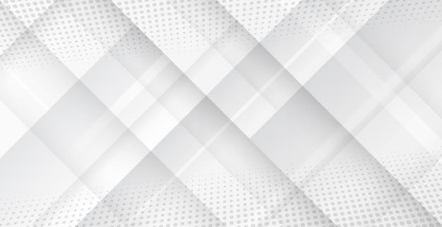 灰色の背景に抽象的な未来的な幾何学的形状。