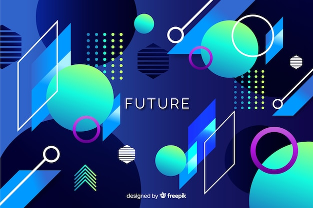 Abstract futuristic geometric shapes background