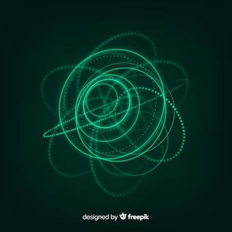 Абстрактный футуристический светящийся голограмма фон