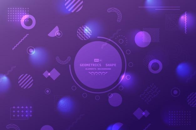 幾何学的要素のアートワークの背景の抽象的な未来的なグラデーションの紫と青のテンプレート。