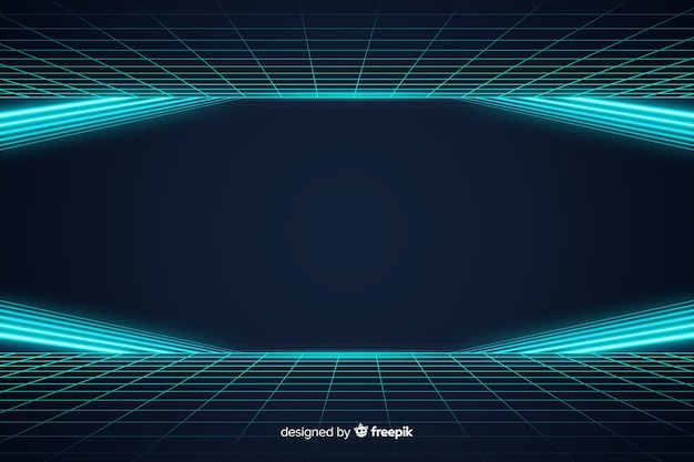 Abstract futuristic horizon light background