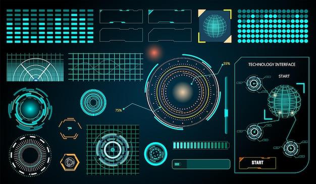 추상 미래 hud 디스플레이 인터페이스 공상 과학 기술 배경