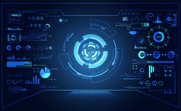 Abstract futuristic hud interface hologram elements