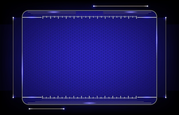 Abstract of futuristic hud ui technology background