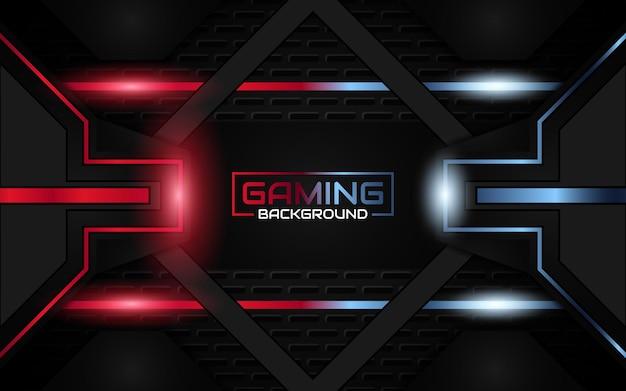 抽象的な未来的な明るい赤と青のゲームの背景