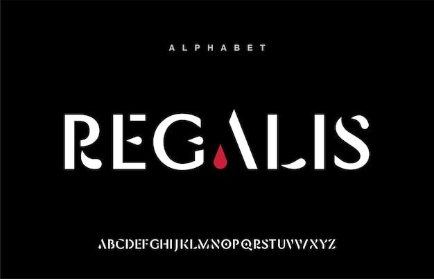 Abstract futuristic modern technology. modern alphabet fonts