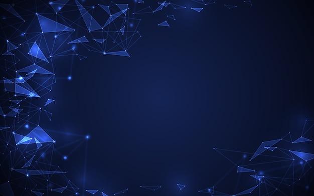 추상 미래 분자 디지털 기술 개념 블루