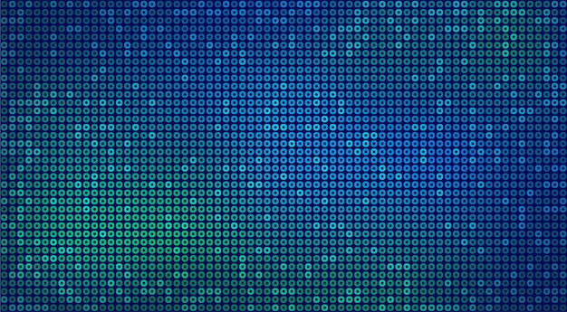 Abstract futuristic neon background with blue and green circles. vector backdrop for digital technology concept design, wallpaper.