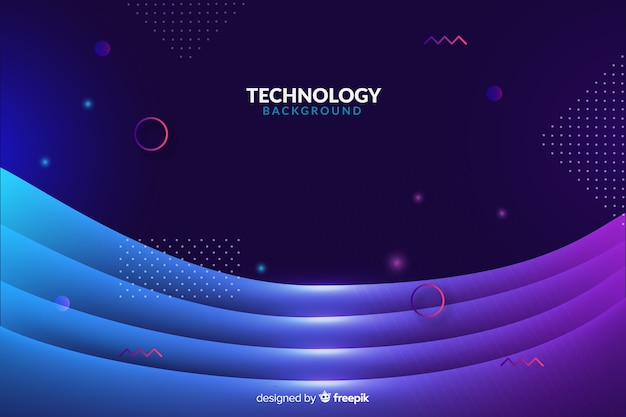 Abstract futuristic neon background
