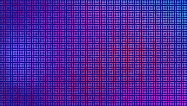 Abstract futuristic neon wallpaper. purple, pink dots on a blue background. vector texture for digital technology concept design.