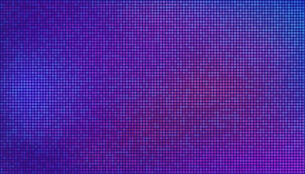 Абстрактные футуристические неоновые обои. фиолетовые, розовые точки на синем фоне. векторная текстура для дизайна концепции цифровых технологий.