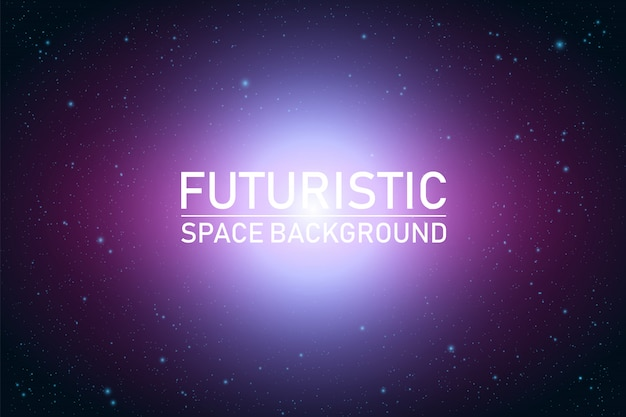 Abstract futuristic space perspective