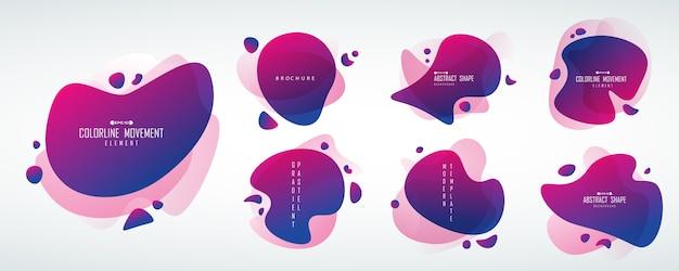 抽象的な未来的なタグ形状コレクション