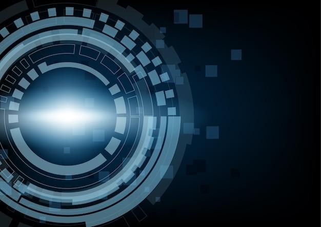 Абстрактный футуристический технологический фон привет-техническая концепция