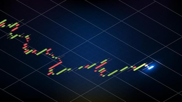 Абстрактный футуристический технологический фон лавины (avax) график цен, монета, цифровая криптовалюта