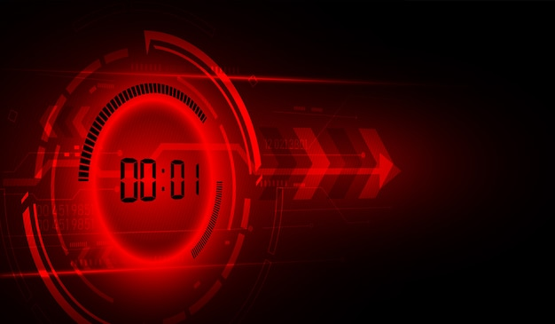 Abstract futuristic technology background with digital number timer