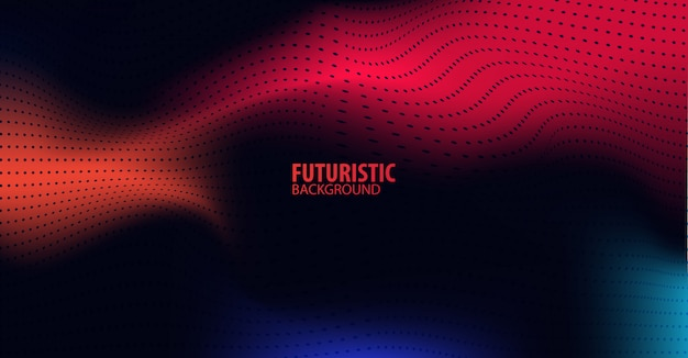 Abstract futuristic technology background with red light