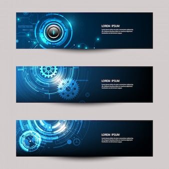 Abstract futuristic technology banner template