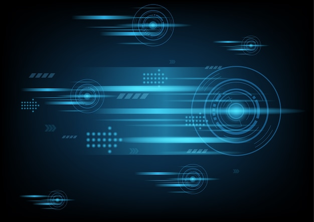 Абстрактные футуристические технологии научно-фантастический фон